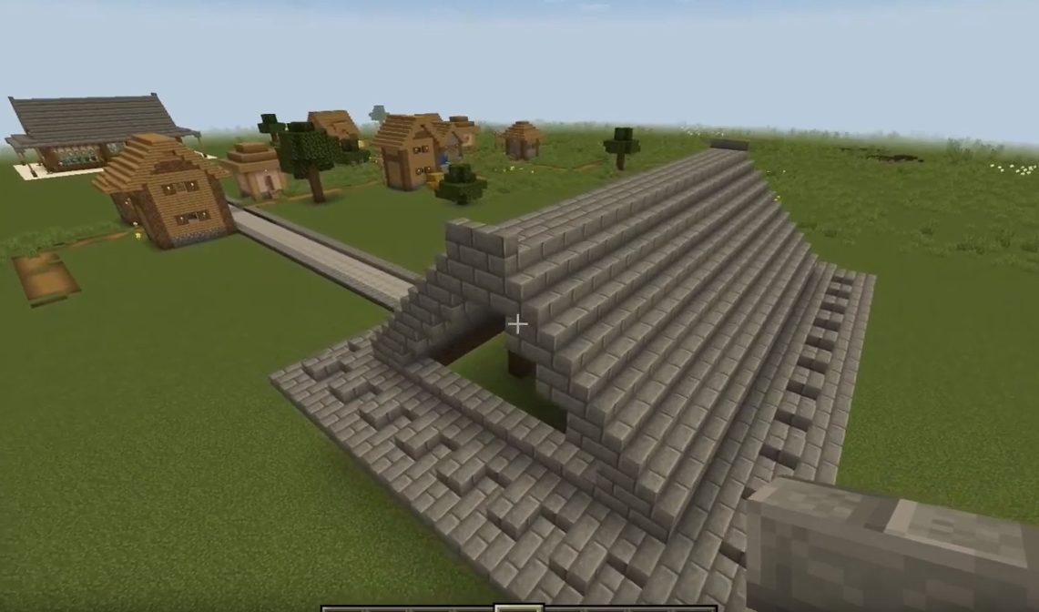 マインクラフト巨大倉屋根内側を壊す